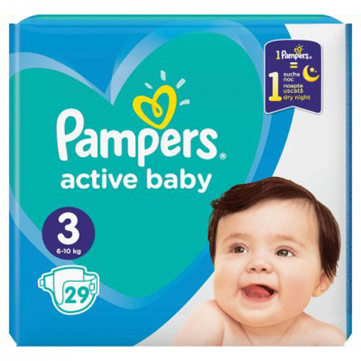 Imagine PAMPERS ACTIVE BABY 3 6-10KG 29 BUC