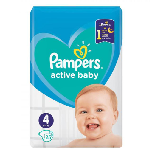 Imagine PAMPERS ACTIVE BABY 4 9-14KG 25 BUC