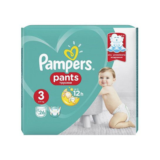 Imagine PAMPERS PANTS BABY NR 3 26 BUC