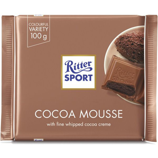 Imagine RITTER SPORT CIOCOLATA CACAO MOUSSE 100G