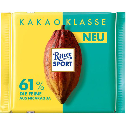 Imagine RITTER SPORT SELECTIE CACAO 61%100G