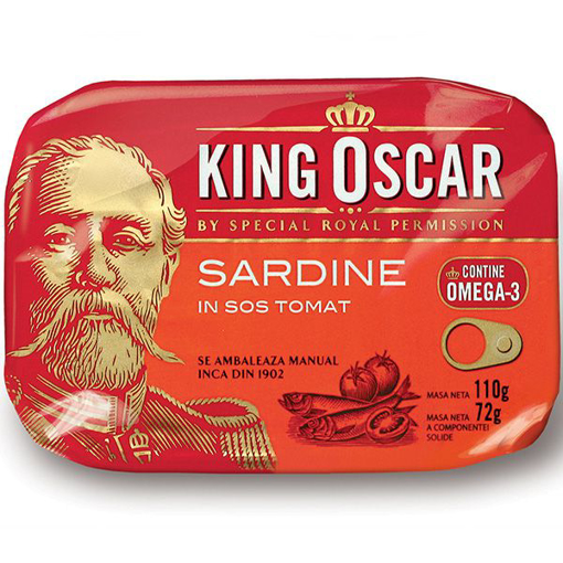 Imagine KING OSCAR SARDINE BALTICE IN SOS TOMAT 110G