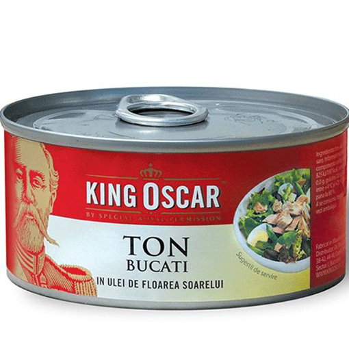 Imagine KING OSCAR TON BUCATI IN ULEI 170G